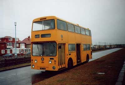 114 as Blackpool Tramway gangbus 268
